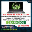 Laptop gaming MSI Alpha 15 A3DDK-212VN
